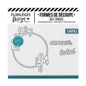 PROMO de -50% sur Outil de découpe AMOUR TOTAL Florilèges Design