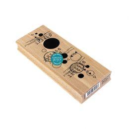 Tampon bois DES CHIFFRES ET DES CERCLES par Florilèges Design. Scrapbooking et loisirs créatifs. Livraison rapide et cadeau d...