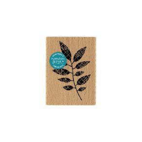 PROMO de -40% sur Tampon bois FEUILLAGE NOIR Florilèges Design