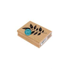 Tampon bois FEUILLAGE NOIR par Florilèges Design. Scrapbooking et loisirs créatifs. Livraison rapide et cadeau dans chaque co...