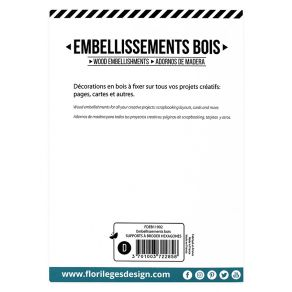 Embellissements bois SUPPORTS À BRODER HEXAGONES