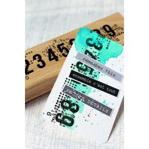 Tampon bois 1 2 3 4 5 6 par Florilèges Design. Scrapbooking et loisirs créatifs. Livraison rapide et cadeau dans chaque comma...