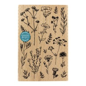 Tampon bois COLLECTION NATURELLE par Florilèges Design. Scrapbooking et loisirs créatifs. Livraison rapide et cadeau dans cha...