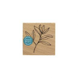 Tampon bois FEUILLAGE LÉGER par Florilèges Design. Scrapbooking et loisirs créatifs. Livraison rapide et cadeau dans chaque c...