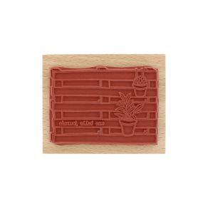Tampon bois PALETTE DÉCO par Florilèges Design. Scrapbooking et loisirs créatifs. Livraison rapide et cadeau dans chaque comm...