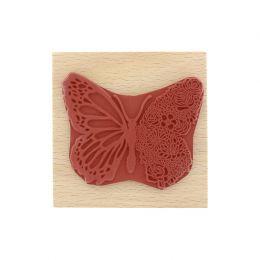 Commandez Tampon bois PAPILLON FLORAL Florilèges Design. Livraison rapide et cadeau dans chaque commande.