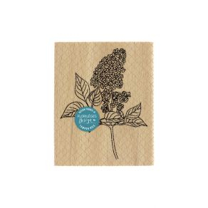 Tampon bois PARFUM DE LILAS par Florilèges Design. Scrapbooking et loisirs créatifs. Livraison rapide et cadeau dans chaque c...