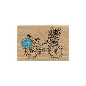 Tampon bois PROFITER À VÉLO par Florilèges Design. Scrapbooking et loisirs créatifs. Livraison rapide et cadeau dans chaque c...
