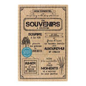 Tampon bois SOUVENIRS À CULTIVER