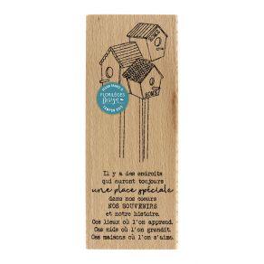 Tampon bois UNE PLACE SPÉCIALE par Florilèges Design. Scrapbooking et loisirs créatifs. Livraison rapide et cadeau dans chaqu...