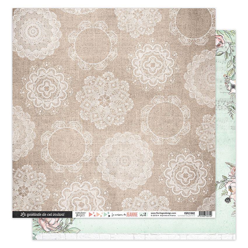 Papier imprimé LA MAISON DE JEANNE 2 par Florilèges Design. Scrapbooking et loisirs créatifs. Livraison rapide et cadeau dans...