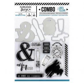 Combo Clear Dies EN TOUTES LETTRES par Florilèges Design. Scrapbooking et loisirs créatifs. Livraison rapide et cadeau dans c...