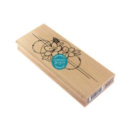 Tampon bois COMPOSITION DE FLEURS
