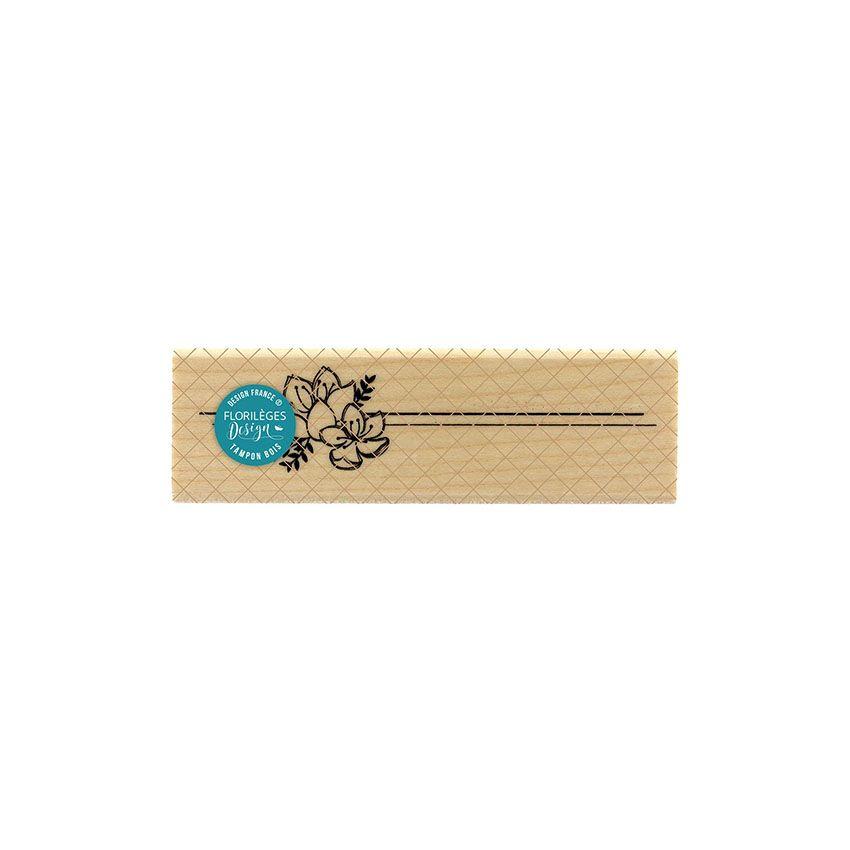 Tampon bois LIGNES FLORALES par Florilèges Design. Scrapbooking et loisirs créatifs. Livraison rapide et cadeau dans chaque c...