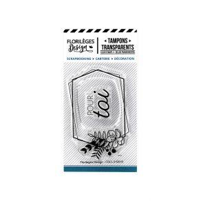 Tampons clear ÉTIQUETTE POUR TOI par Florilèges Design. Scrapbooking et loisirs créatifs. Livraison rapide et cadeau dans cha...
