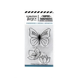 Tampons clear PAPILLONS ET FLEURS par Florilèges Design. Scrapbooking et loisirs créatifs. Livraison rapide et cadeau dans ch...