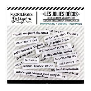 Parfait pour créer : Décos MOTS DOUX EDELWEISS par Florilèges Design. Livraison rapide et cadeau dans chaque commande.