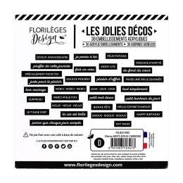 Décos MOTS DOUX CARBONE par Florilèges Design. Scrapbooking et loisirs créatifs. Livraison rapide et cadeau dans chaque comma...