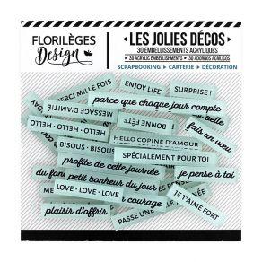 Parfait pour créer : Décos MOTS DOUX CÉLADON par Florilèges Design. Livraison rapide et cadeau dans chaque commande.
