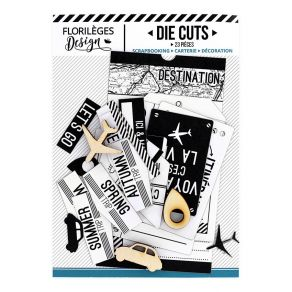Die cuts BLANC CAPSULE « TICKET VOYAGE »