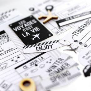 Commandez Die cuts BLANC CAPSULE «TICKET VOYAGE» Florilèges Design. Livraison rapide et cadeau dans chaque commande.