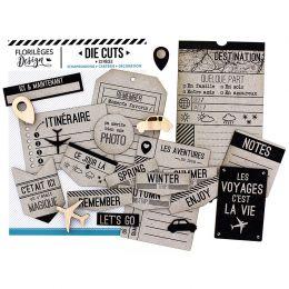 Die cuts KRAFT CAPSULE «TICKET VOYAGE» par Florilèges Design. Scrapbooking et loisirs créatifs. Livraison rapide et cadeau ...
