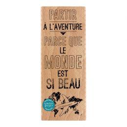 Tampon bois BEAU MONDE par Florilèges Design. Scrapbooking et loisirs créatifs. Livraison rapide et cadeau dans chaque commande.