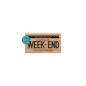 Tampon bois WEEK-END par Florilèges Design. Scrapbooking et loisirs créatifs. Livraison rapide et cadeau dans chaque commande.