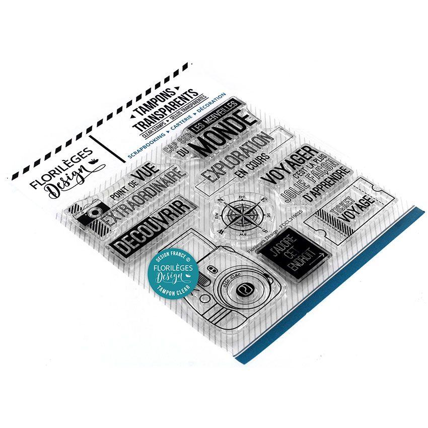 Tampons clear CAP SUR LE MONDE par Florilèges Design. Scrapbooking et loisirs créatifs. Livraison rapide et cadeau dans chaqu...