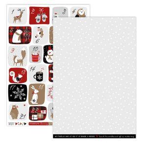 Parfait pour créer : Papier imprimé CHRISTMAS COCOONING 4 par Florilèges Design. Livraison rapide et cadeau dans chaque comma...
