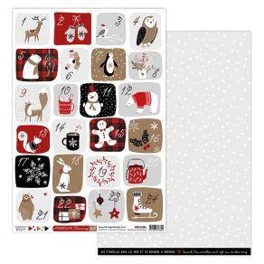 Papier imprimé CHRISTMAS COCOONING 4 par Florilèges Design. Scrapbooking et loisirs créatifs. Livraison rapide et cadeau dans...