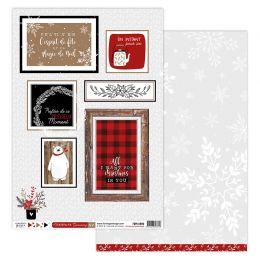 Papier imprimé CHRISTMAS COCOONING 6 par Florilèges Design. Scrapbooking et loisirs créatifs. Livraison rapide et cadeau dans...