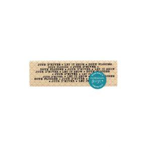 Commandez Tampon bois DOUX FLOCONS Florilèges Design. Livraison rapide et cadeau dans chaque commande.