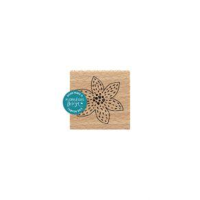 Commandez Tampon bois FLEUR BRODÉE BLANCHE Florilèges Design. Livraison rapide et cadeau dans chaque commande.
