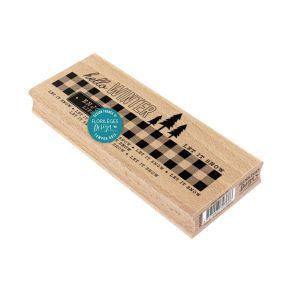 Tampon bois ENJOY WINTER LIFE par Florilèges Design. Scrapbooking et loisirs créatifs. Livraison rapide et cadeau dans chaque...