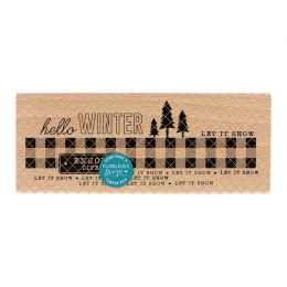 PROMO de -20% sur Tampon bois ENJOY WINTER LIFE Florilèges Design