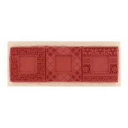 Tampon bois TROIS DIAPOS par Florilèges Design. Scrapbooking et loisirs créatifs. Livraison rapide et cadeau dans chaque comm...