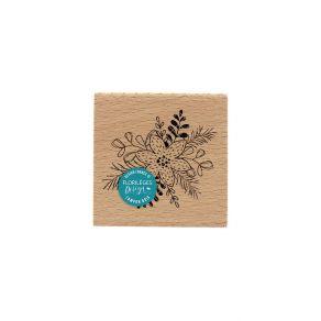 Commandez Tampon bois FLEUR ACCOMPAGNÉE Florilèges Design. Livraison rapide et cadeau dans chaque commande.