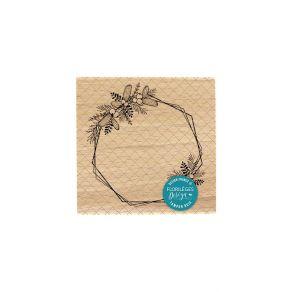 Tampon bois HEXAGONES EMBELLIS par Florilèges Design. Scrapbooking et loisirs créatifs. Livraison rapide et cadeau dans chaqu...
