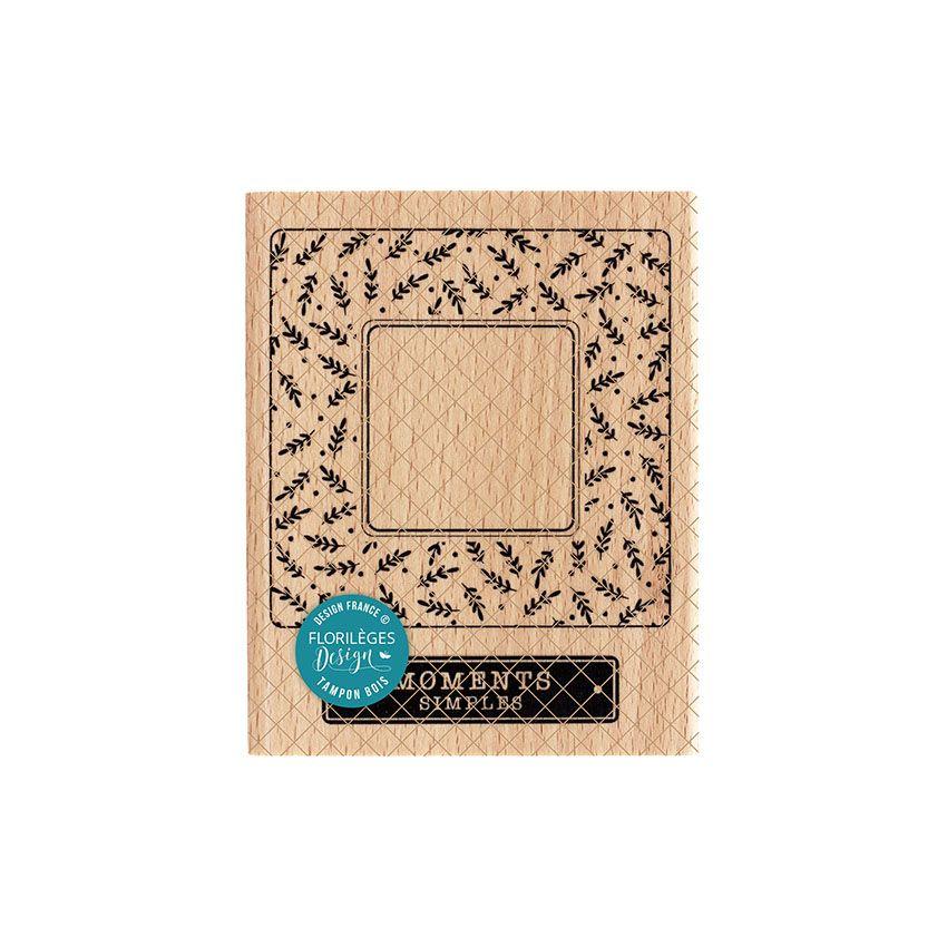 Tampon bois CADRE SIMPLE par Florilèges Design. Scrapbooking et loisirs créatifs. Livraison rapide et cadeau dans chaque comm...