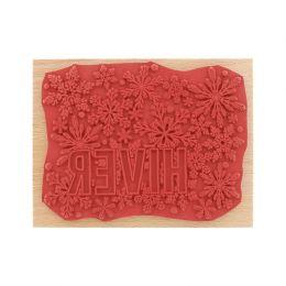 Tampon bois GRAND HIVER par Florilèges Design. Scrapbooking et loisirs créatifs. Livraison rapide et cadeau dans chaque comma...