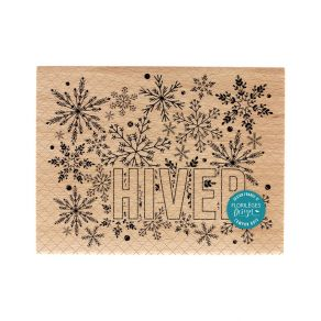 Commandez Tampon bois GRAND HIVER Florilèges Design. Livraison rapide et cadeau dans chaque commande.