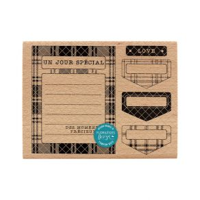 Commandez Tampon bois CARTE ET ONGLETS Florilèges Design. Livraison rapide et cadeau dans chaque commande.