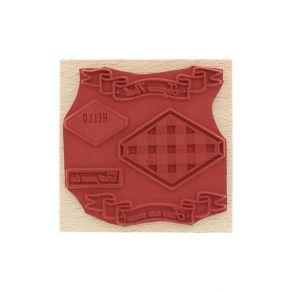 Tampon bois ÉTIQUETTE À COMPOSER par Florilèges Design. Scrapbooking et loisirs créatifs. Livraison rapide et cadeau dans cha...