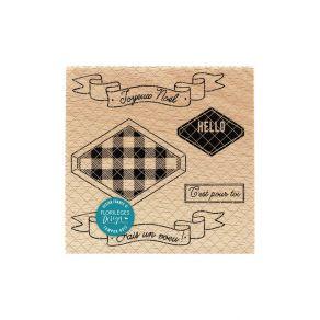 Commandez Tampon bois ÉTIQUETTE À COMPOSER Florilèges Design. Livraison rapide et cadeau dans chaque commande.