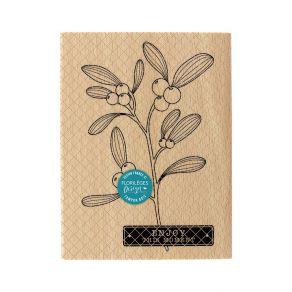 Commandez Tampon bois BRANCHE DE GUI Florilèges Design. Livraison rapide et cadeau dans chaque commande.