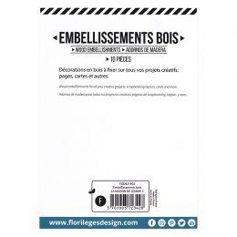 Embellissements bois LA MAISON DE JEANNE 2 par Florilèges Design. Scrapbooking et loisirs créatifs. Livraison rapide et cadea...