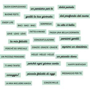 Décos DOLCI PAROLE CÉLADON par Florilèges Design. Scrapbooking et loisirs créatifs. Livraison rapide et cadeau dans chaque co...