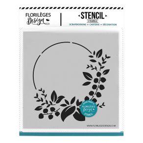 Pochoir COURONNE DES FÊTES par Florilèges Design. Scrapbooking et loisirs créatifs. Livraison rapide et cadeau dans chaque co...