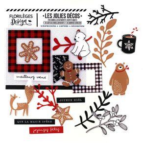Décos CHRISTMAS COCOONING par Florilèges Design. Scrapbooking et loisirs créatifs. Livraison rapide et cadeau dans chaque com...